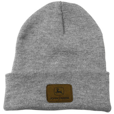 John Deere Knit Beanie with Leather Patch