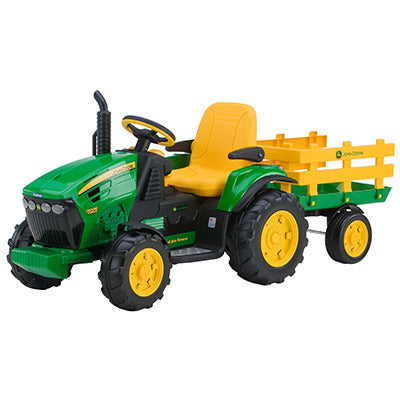 Ground Force 12V John Deere Tractor with Trailer