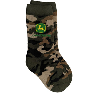John Deere Boy Toddler Camo Print Crew Sock