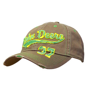 John Deere Men's Brown Vintage Cap