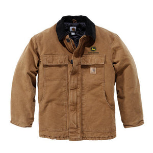 John Deere Carhartt Collar Jacket (Construction Logo)