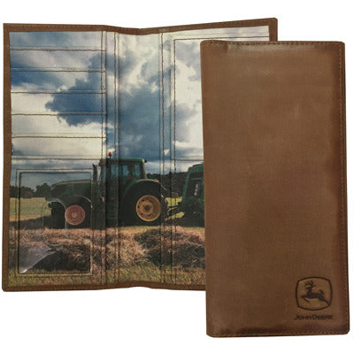 John Deere Checkbook with Tractor Scene