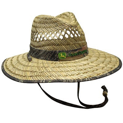 John Deere Mens Camo Band Straw Hat