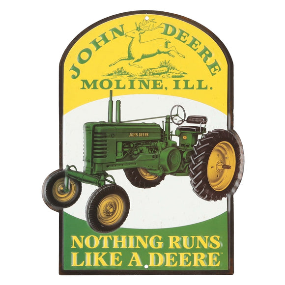John Deere Vintage Nothing Runs Sign