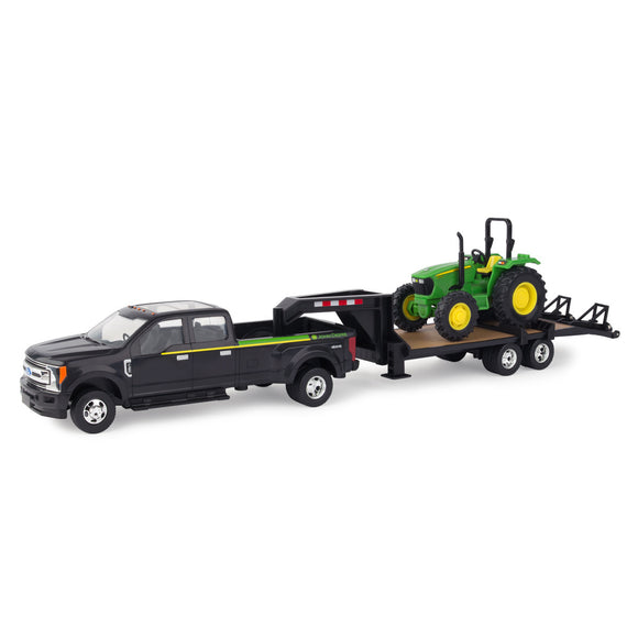 1/32 5075E Tractor with 2017 Ford F350 and 5th Wheel Trailer