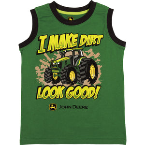 "John Deere Boy Child Tee ""I Make Dirt Look Good"""