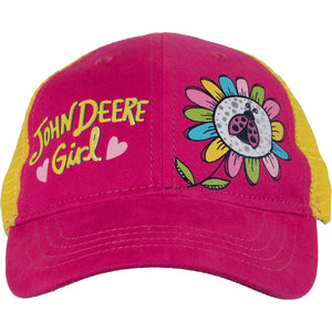 John Deere Girl/Toddler Cap - Magenta