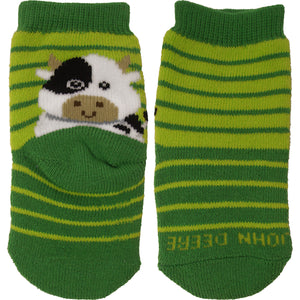 John Deere Boy Infant Cow Crew Socks