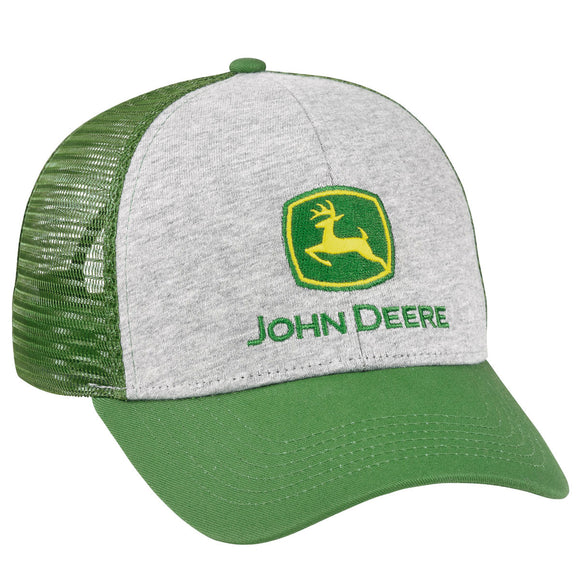 Gray and Green Jersey Front Cap