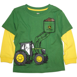John Deere Infant Tee Tractor Pocket
