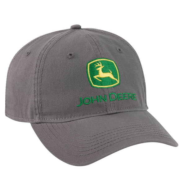 John Deere Charcoal Washed Grey Cap
