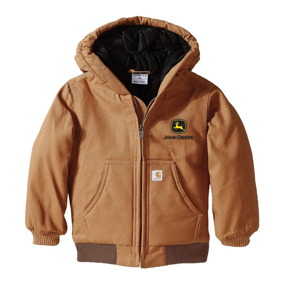 John Deere Boys Carhartt Infant/Toddler Hooded Jacket (C&F Logo)