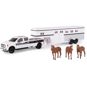 1/32 Horse Set with Ford Pickup, Trailer and Animals