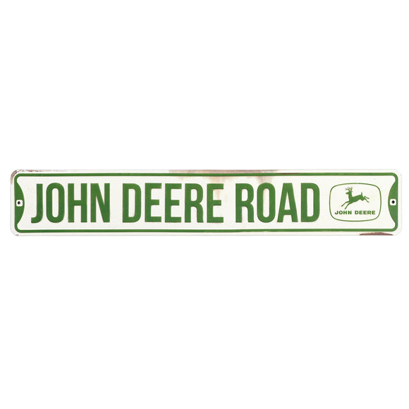 John Deere Tin Street Sign