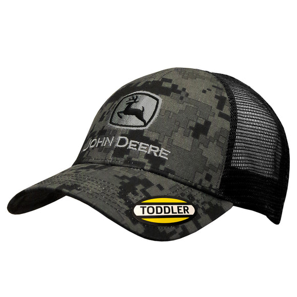 John Deere Toddler Black Digital Camo Cap