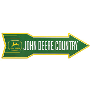 John Deere Country Metal Arrow Tin Sign