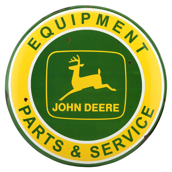 John Deere Retro Large Metal Button Sign