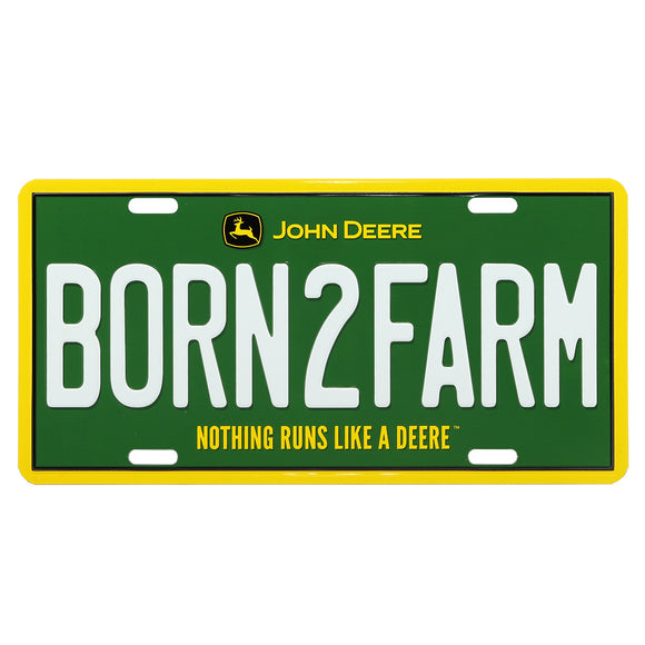 John Deere Born2Farm License Plate