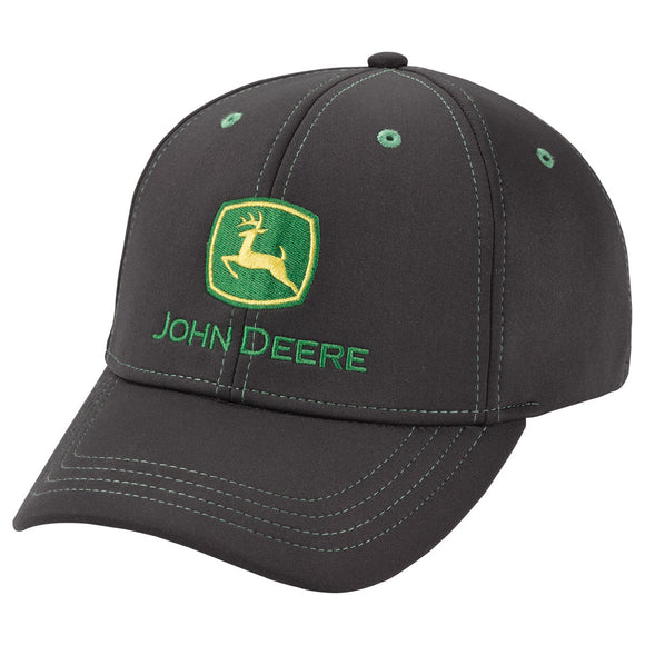 John Deere Black Stretch Cap
