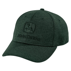 John Deere Space Dye Green Stretch Cap