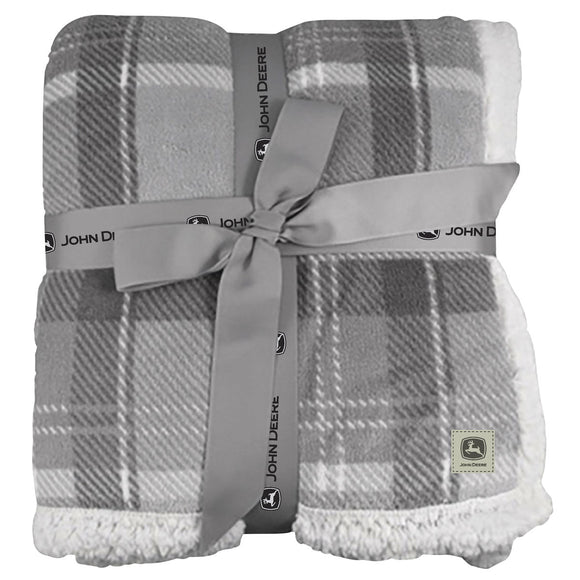 John Deere Cottage Plaid Throw