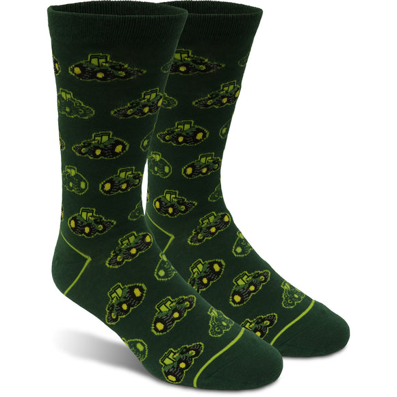 John Deere Mens Tractor Novelty Sock