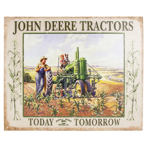 "John Deere ""Lunch Time"" Tin Sign"