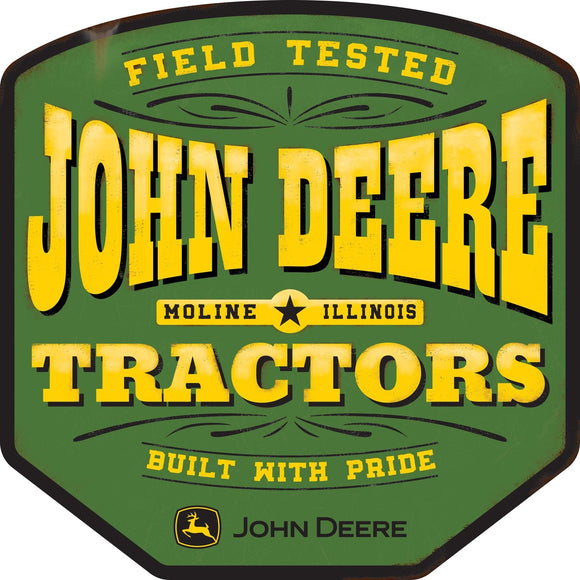 John Deere Saloon Style Metal Sign
