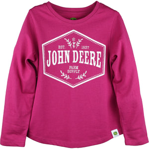 John Deere Girls Child Branded Tee