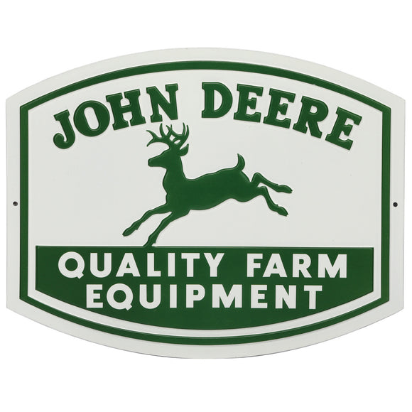 Vintage John Deere Metal Sign Small