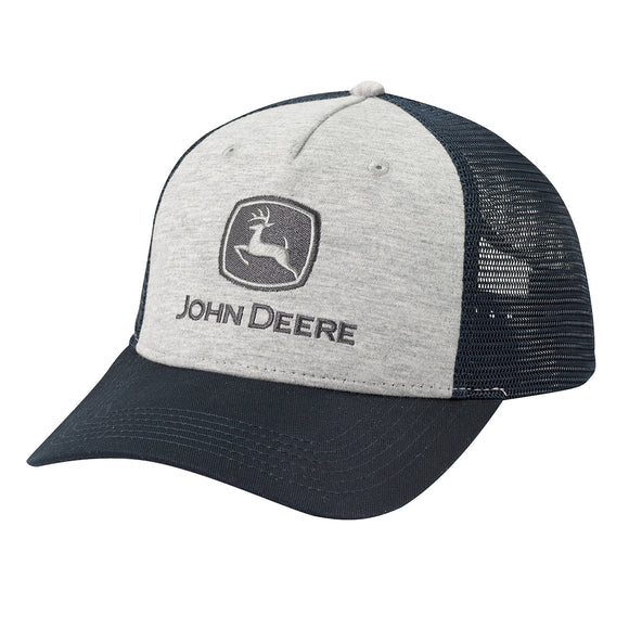 John Deere Gray Space Dye Cap