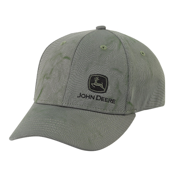 John Deere Olive Patterned Cap