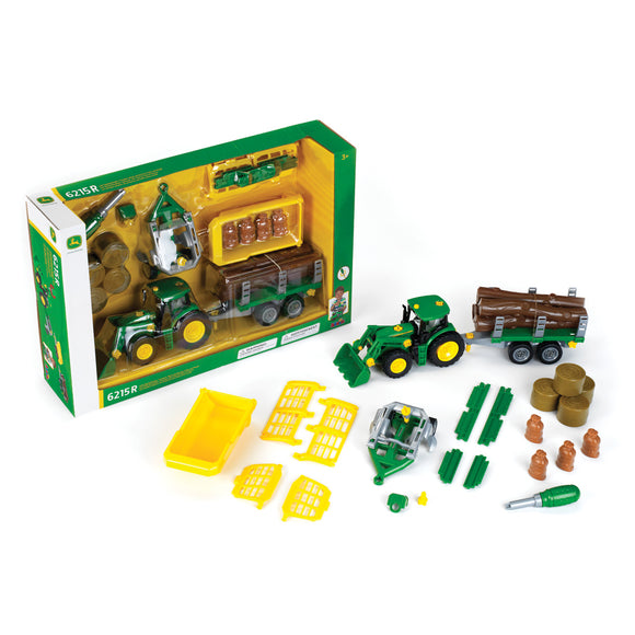 John Deere 1/24 Tractor with Trailer Set