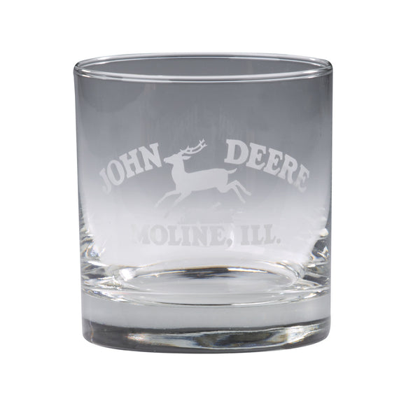 11 oz John Deere Rocks Glass - Set of 4