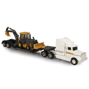 1/64 Semi with Backhoe Loader