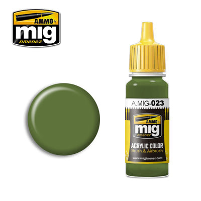 MIG023 PROTECTIVE GREEN ACRYLIC PAINT