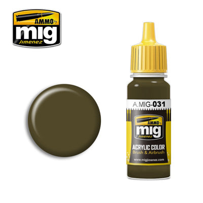 MIG031 SPANISH GREEN-KHAKI ACRYLIC PAINT