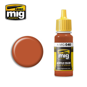 MIG040 MEDIUM RUST ACRYLIC PAINT