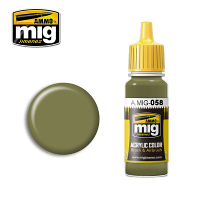 MIG058 LIGHT GREEN KHAKI ACRYLIC PAINT