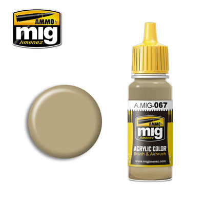 MIG067 LIGHT SAND GREY ACRYLIC PAINT
