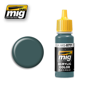 MIG077 DULL GREEN ACRYLIC PAINT