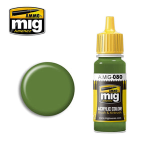 MIG080 BRIGHT GREEN ACRYLIC PAINT
