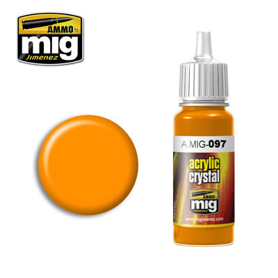 MIG097 ORANGE CRYSTAL ACRYLIC