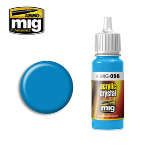 MIG098 LIGHT BLUE CRYSTAL ACRYLIC
