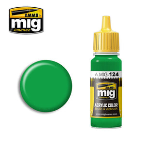 MIG124 LIME GREEN ACRYLIC PAINT