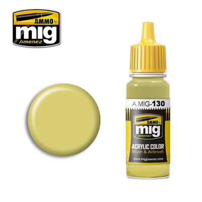 MIG130 FADED YELLOW ACRYLIC PAINT