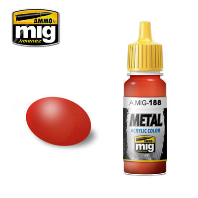 MIG188 METALLIC RED ACRYLIC PAINT