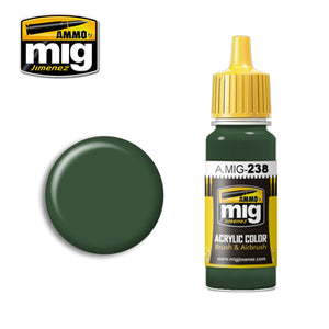 MIG238 FS 34092 MEDIUM GREEN ACRYLIC PAINT
