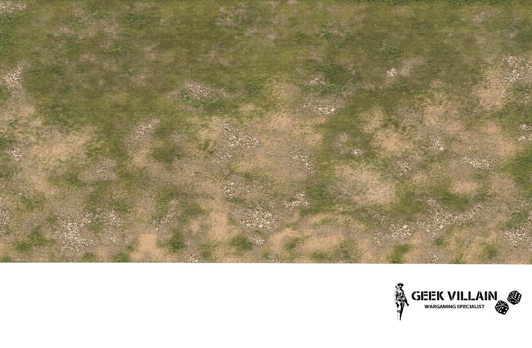 Wargaming Battle Mat 6x4 Rocky Grass
