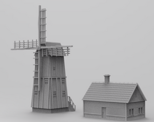 Windmill with house  28mm/15mm/6mm